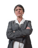 dojrzały gniewny bizneswoman Obrazy Royalty Free