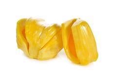 Dojrzały jackfruit na bielu obrazy royalty free