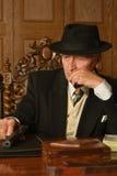 Dojrzały męski mafijny szef fotografia royalty free