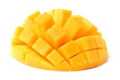 Dojrzały mango, sześcianu cięcie, fotografia stock