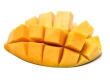Dojrzały mango, sześcianu cięcie, obraz royalty free