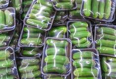 Dojrzały ogórek w pakunku zdjęcie royalty free