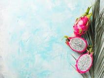 Dojrzały pitaya lub dragonfruit zamknięty up zdjęcia royalty free