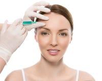 dojrzały ponad operacji plastycznej białą kobietą Atrakcyjna, śliczna kobieta, Zdjęcie Royalty Free