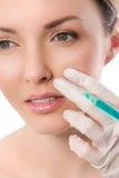 dojrzały ponad operacji plastycznej białą kobietą Atrakcyjna, śliczna kobieta, Obrazy Royalty Free