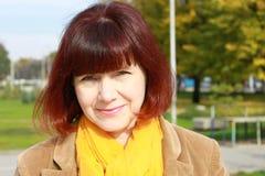 dojrzała portret kobiety Fotografia Stock