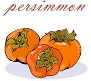 Dojrzała soczysta jaskrawa persimmon owoc Fotografia Royalty Free