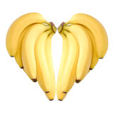 dojrzały banana serce Zdjęcie Stock