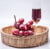 Dojrzały czerwony winogrono Fotografia Stock