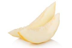 Dojrzały pokrojony miodunka melon Obraz Royalty Free