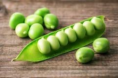Dojrzały zielony groch Zdjęcie Stock