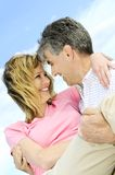 dojrzałe par romantyczne Obraz Royalty Free
