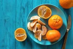 Dojrzali clementines obraz stock