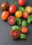 Dojrzali czerwoni pomidory Obrazy Stock