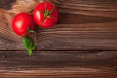 Dojrzali czerwoni pomidory Zdjęcie Stock