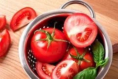 Dojrzali czerwoni pomidory Fotografia Royalty Free
