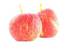 Dojrzali i świezi czerwoni jabłka Zdjęcia Royalty Free