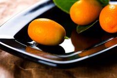 Dojrzali kumquats na talerzu Obraz Royalty Free