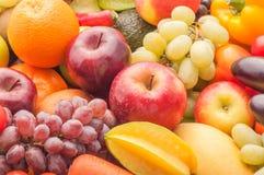 Dojrzali owoc i warzywo dla zdrowego Zdjęcie Royalty Free