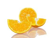 Dojrzali pomarańczowi plasterki Obrazy Royalty Free