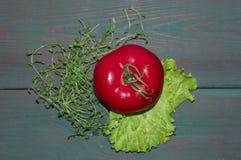 Dojrzali, soczyści jabłka, i zieleń - czerwień fasoli marchewek kalafiorów karmowi naturalni smyczkowi warzywa owoce, warzywa zdr Zdjęcia Royalty Free
