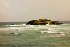 Dokąd atlantycki ocean spotyka morze karaibskie fotografia stock