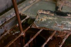DOKĄD ciecz czekolada KOŃCZY Zdjęcie Stock