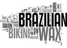 Dokąd Mogę Dostawać Brazylijską wosku słowa chmurę ilustracji