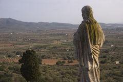 Dokąd region losu angeles serralada Ermita De Los angeles Piedad Ulldecona, Tarragona -) (Catalonia, Hiszpania) zobaczył w Montsi Obraz Stock