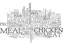 Dokąd S mięso W Mój zwierzęcia domowego jedzenia słowa chmurze Obrazy Stock