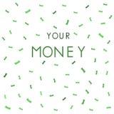 Dokąd s twój pieniądze tło wektor Royalty Ilustracja