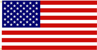 dokładna amerykańska flaga Zdjęcia Stock
