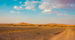 Dokąd pustynia zaczyna Fotografia Stock