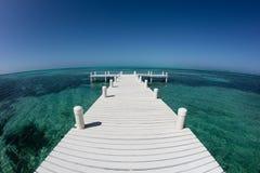 Dok en Caraïbische Zee royalty-vrije stock foto
