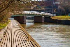 Dok en een brug Stock Afbeelding