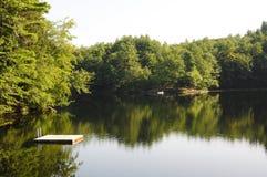 Dok in het meer Royalty-vrije Stock Foto