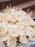 Dok Mai Chan Thaise die kunstbloemen tijdens een begrafenis worden gebruikt Stock Fotografie