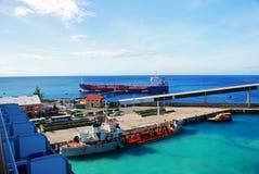 Dok op een Caraïbisch eiland royalty-vrije stock afbeelding