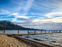 dok op Meer Tahoe royalty-vrije stock foto
