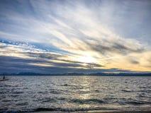 dok op Meer Tahoe stock fotografie