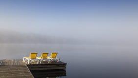 Dok op mont-Tremblant lak-Superieur, Quebec, Canada Stock Fotografie