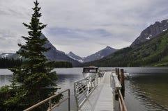 Dok przy Dwa Medycyna jeziorem Obrazy Royalty Free