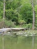 Dok przy jeziorem zdjęcie stock