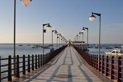 Dok van puerto Lopez stock foto
