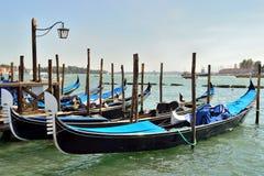 Dok voor gondels in Venetië Stock Afbeelding