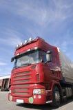 dok załadunkowy czerwień ciężarówki Zdjęcia Royalty Free