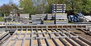 Doka-Markendetails und Elemente der Bauverschalungen an Lizenzfreie Stockbilder