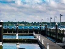 Doki Przy Marina Na Long Island zdjęcia stock