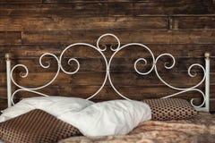 Dokonanego żelaza łóżko obraz stock