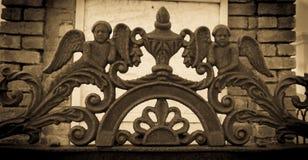 Dokonanego żelaza aniołowie obrazy stock